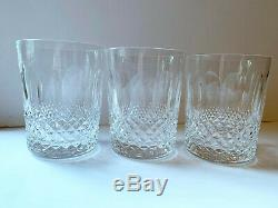 Set 3 Waterford Crystal Colleen Double Old Fashioned Tumblers Whiskey Glasses