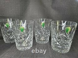 Set 4 Signed Waterford Crystal Lismore 12 oz Double Old Fashioned Glasses