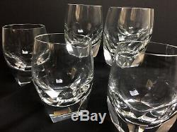 Set 6 Moser Crystal Bar Ice Bottom Double Old Fashioned Rocks Glasses