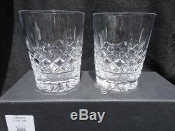 Set Of 2 Waterford Lismore 12 Oz Double Old Fashioned Tumblers In Box Slovenia 1