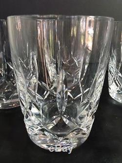 Set Of 5 Waterford Crystal Harper 4.5 Double Old Fashioned Tumblers