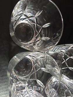 Set Of 5 Waterford Crystal Harper Double Old Fashioned Tumblers