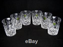 Set Of 6 Waterford Lismore 12 Oz Double Old Fashioned Glasses Tumblers 4 3/8 T