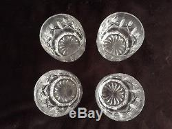 Set Of Four Waterford Lismore Double Old Fashioned 4 Rocks Glasses Tumblers