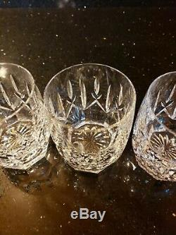 Set of4 Waterford Ireland Crystal Double Old Fashioned Westhampton Rocks Glasses