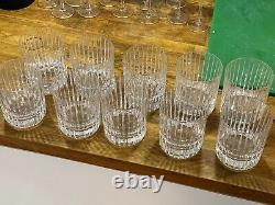 Set of 10 Baccarat Harmonie Double Old Fashioned XL Tumblers New $1850