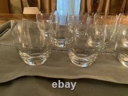 Set of 10 signed Baccarat Double old fashioned glasses EUC