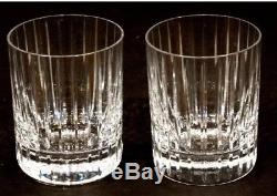 Set of 2MINT Crystal BACCARAT HARMONIE Double Old Fashioned DRINK Glasses 4.1