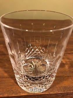 Set of 2 Fine Waterford Crystal Happy Birthday Double Old-Fashioned Glasses