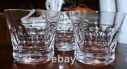 Set of 3 BACCARAT Crystal BIBA Double Old Fashioned DOF Tumbler MADE IN FRANCE