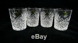 Set of 4 MIB Waterford Crystal Ciara Double Old Fashioned Glasses Made in Italy