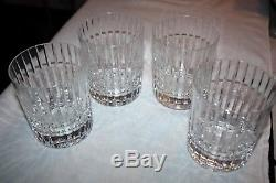 Set of 4 Vintage Baccarat Crystal Harmonie Double Old-Fashioned 4 1/8 Tumblers
