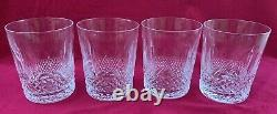 Set of 4 Waterford Crystal Colleen Double Old Fashioned Tumblers Glasses Lot 1