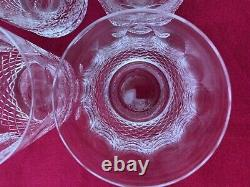 Set of 4 Waterford Crystal Colleen Double Old Fashioned Tumblers Glasses Lot 2