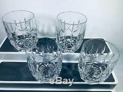 Set of 4 Waterford Crystal Westhampton Double Old Fashioned Fashion Glasses