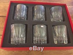 Set of 6-Baccarat Crystal Harmonie Double Old Fashioned Tumbler