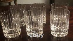Set of 6-Baccarat Crystal Harmonie Double Old Fashioned Tumblers