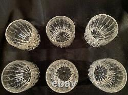 Set of 6 Mikasa Park Lane Double Old Fashioned Crystal Glasses 8 oz 3 7/8 Tall
