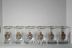 Set of 6 Vintage Ralph Lauren Estate Crest 5 High Double Old Fashioned Glasses