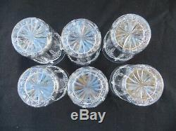 Set of 6 Waterford Crystal Grainne Double Old Fashioned Tumblers Glasses 4 3/8