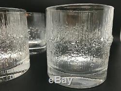 Set of 8 Iittala Tapio Wirkkala NIVA Double Old Fashioned Glasses Buy It Now