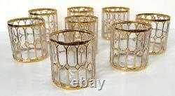Set of 8 Vintage Imperial SPANISH WINDOWS Tumblers Glasses Double Old Fashioned