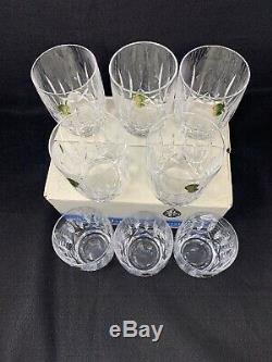Set of 8 Waterford Crystal Kildare Double Old Fashioned Tumblers 12 oz