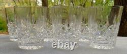 Set of SIX Waterford Crystal Lismore Double Old Fashioned DOF Tumblers