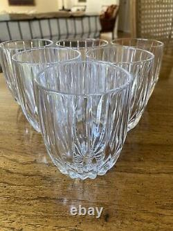 Set of Six (6) Mikasa Park Lane Double Old Fashioned Crystal Glasses 8oz 3 7/8