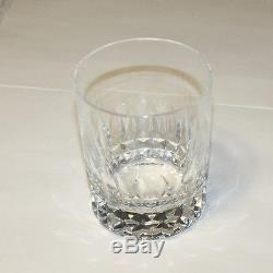 Set of Two Baccarat Buckingham Crystal Double Old Fashioned Glasses From France