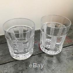 Set of Two William Yeoward Crystal Glass Rocks Glass / Double Old Fashioned