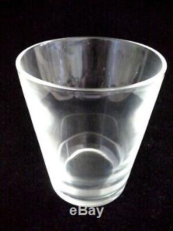 Signed STEUBEN High Ball Glass Double Old Fashioned Tumbler # 7711 4-1/2 Tall