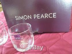 Simon Pearce 6 Chelsea Optic Double Old-fashioned Glasses Nrfb
