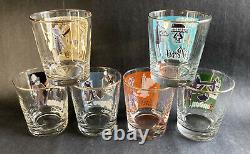 Six Vintage Libbey International Cities of World Double Old Fashioned Glasses