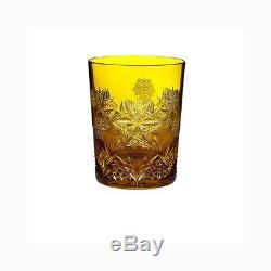 Snowflake Wishes Peace Double Old Fashioned Glass Color Amber