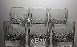 Stuart Crystal Glengarrycut Double Old Fashioned Tumblers Set Of 6-3 1/2 Tall