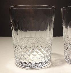 Two Vintage Waterford Crystal Colleen Double Old Fashioned Glasses