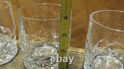 Tiffany & Co. Company Crystal Rock Cut Double Old Fashioned Glasses Set Of 4