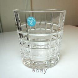 Tiffany & Co Crystal PLAID Double Old Fashioned Glass(s) MINT/UNUSED with Labels