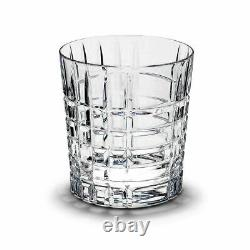 Tiffany & Co Crystal PLAID Double Old Fashioned Glass(s) Nice