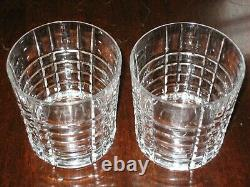 Tiffany & Co Crystal Plaid Double Old Fashioned Rocks Glass Tumbler-MINT