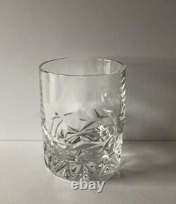 Tiffany & Co Crystal Set Of 4 Rock Cut Double Old Fashioned Glasses