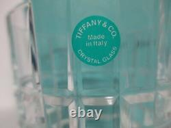 Tiffany & Co PLAID Double Old Fashioned Glasses New In Box
