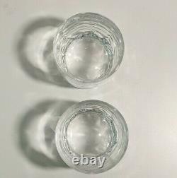 Tiffany & Co Rock Cut Double Old Fashioned Glasses Set of 2 Whiskey Bourbon