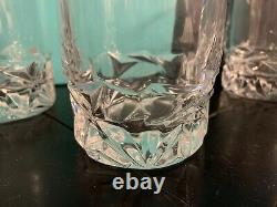 Tiffany & Co. (Set) 4 Rock Cut Double Old-Fashioned Whiskey Glasses MINT Box