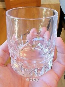 Tiffany & Co. (Set) 4 Rock Cut Double Old Fashioned Whiskey Glasses NEW