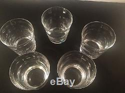 Tiffany & Company Double Old Fashioned Glasses Saturn Horizontal Optic #5 Box
