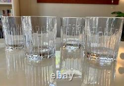 Tiffany Vintage Crystal Atlas Double Old Fashioned Glasses, Set of 4
