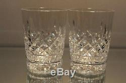 Two (2) Waterford Lismore Double Old Fashioned DOF Tumbler 4 3/8 Tall 12 Ounce