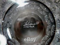 VINTAGE Lalique Crystal NAPSBURY (1976-) Set of 2 Double Old Fashioned 3 7/8